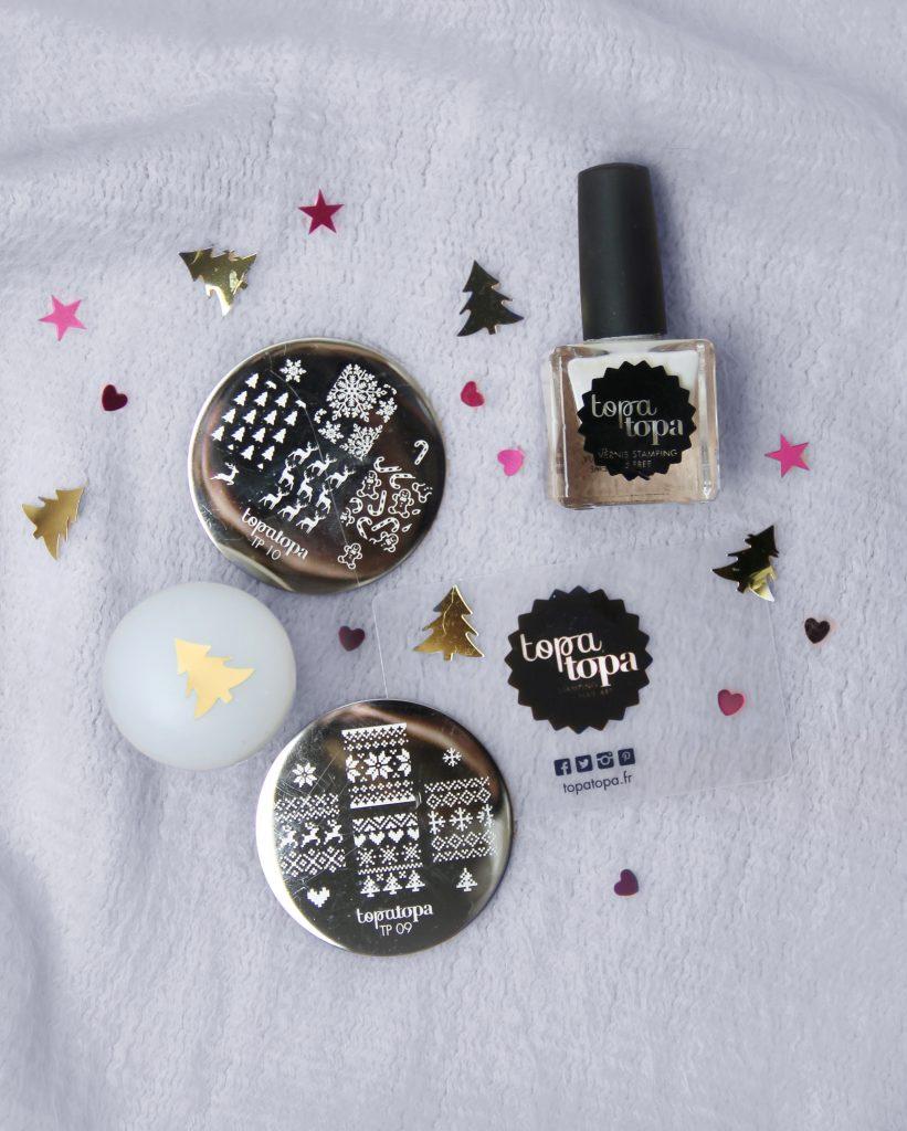 Stamping nail art de Noël