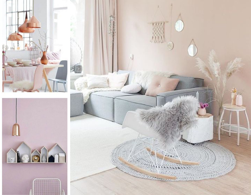 Inspiration d co scandinave rose poudr cuivr morgane pastel for Chambre scandinave pastel