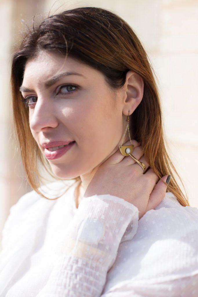 look blouse plumetis blanche
