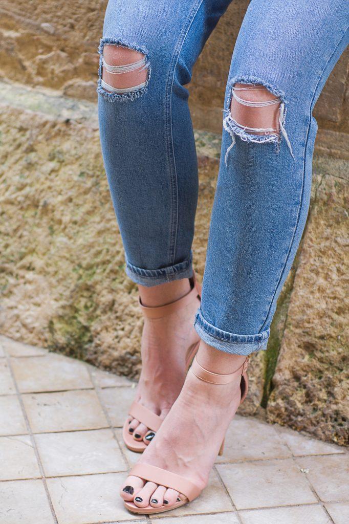 details jean mom asos dechirures genoux