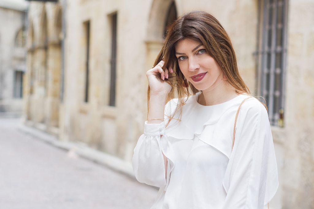 blouse cape croisée