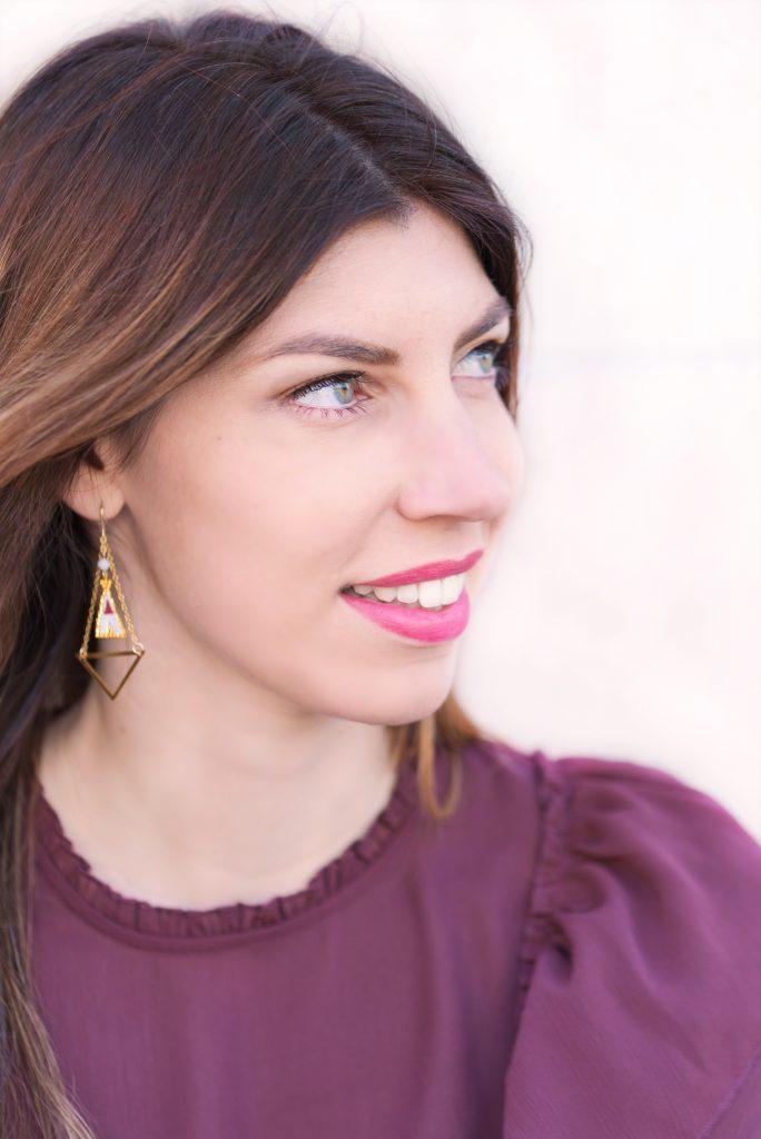 boucles oreilles tipi creatif perles