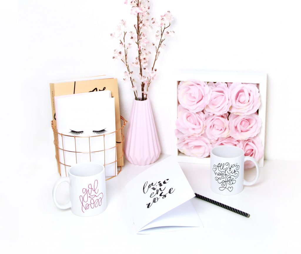 deco girl rose printemps