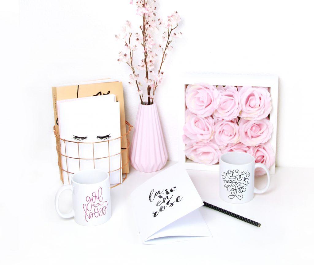 deco girl rose printemps