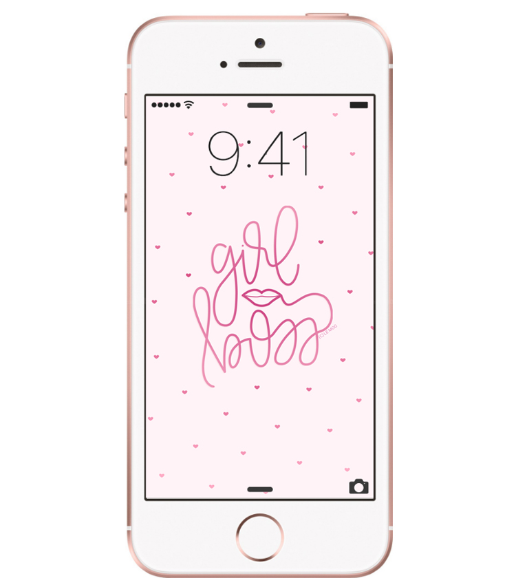 fond ecran iphone 6 girl boss