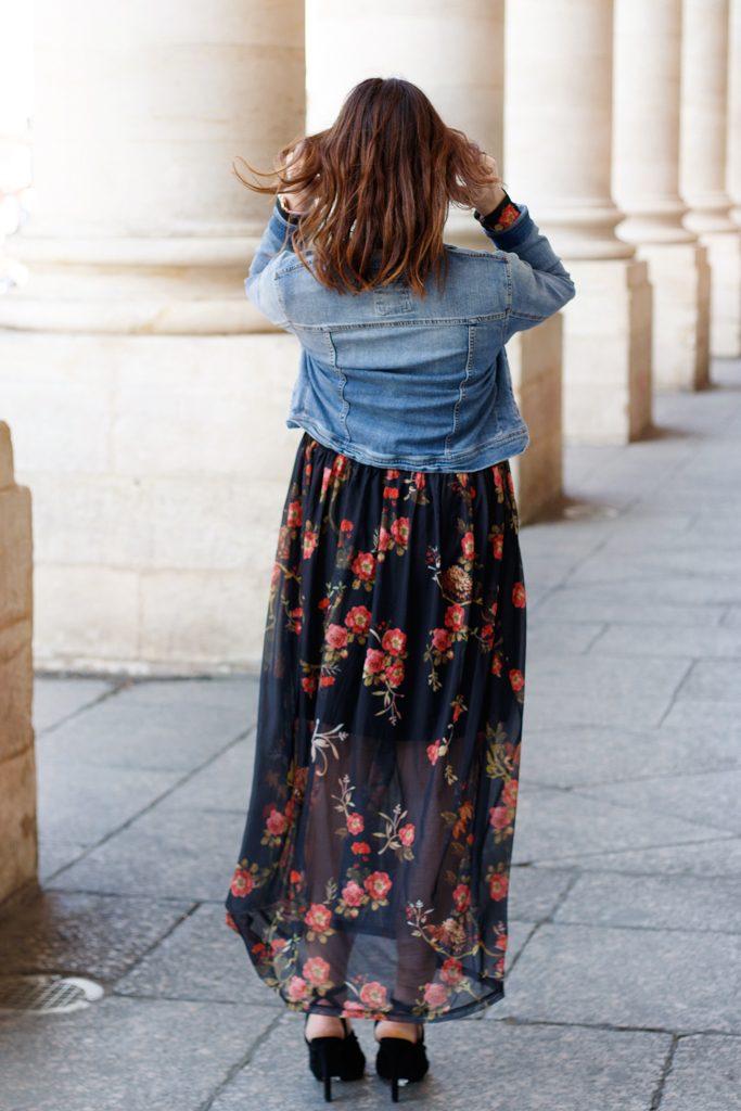 look style robe longue fleurs