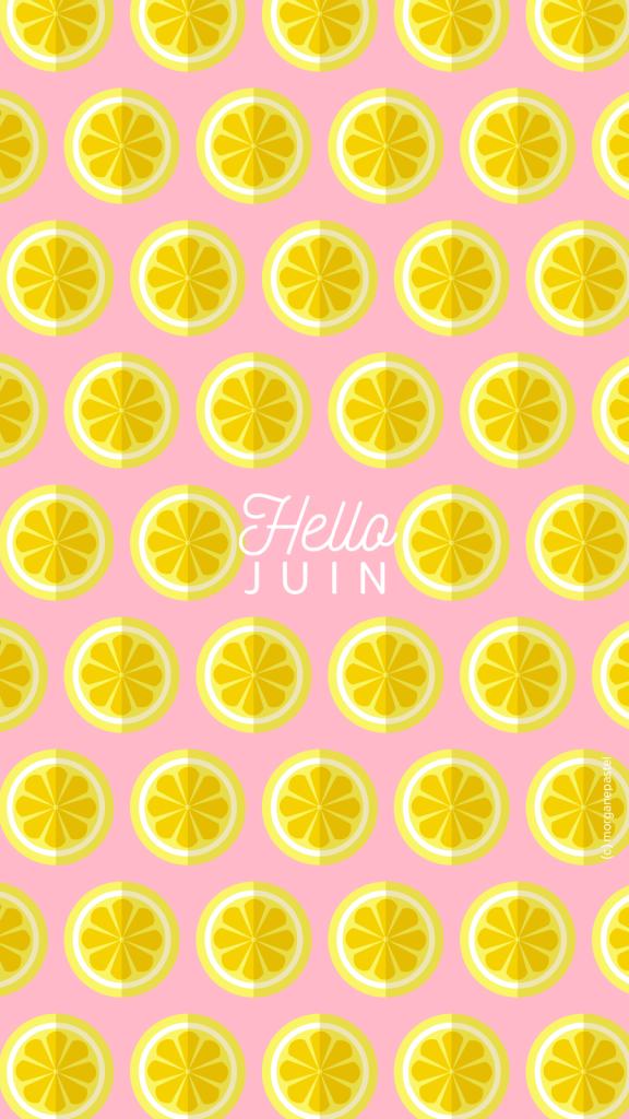 wallpaper juin 2017 citron rose