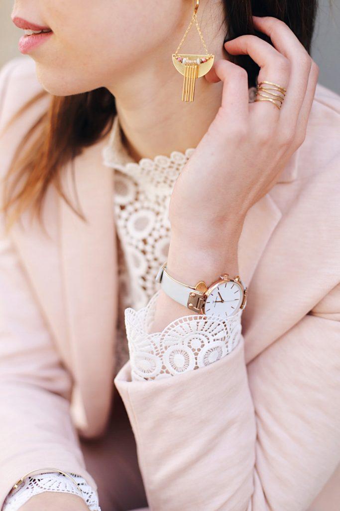 blouse dentelle h&m blanche