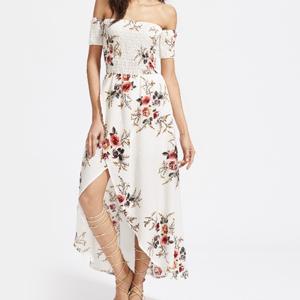 robe longue fleurs