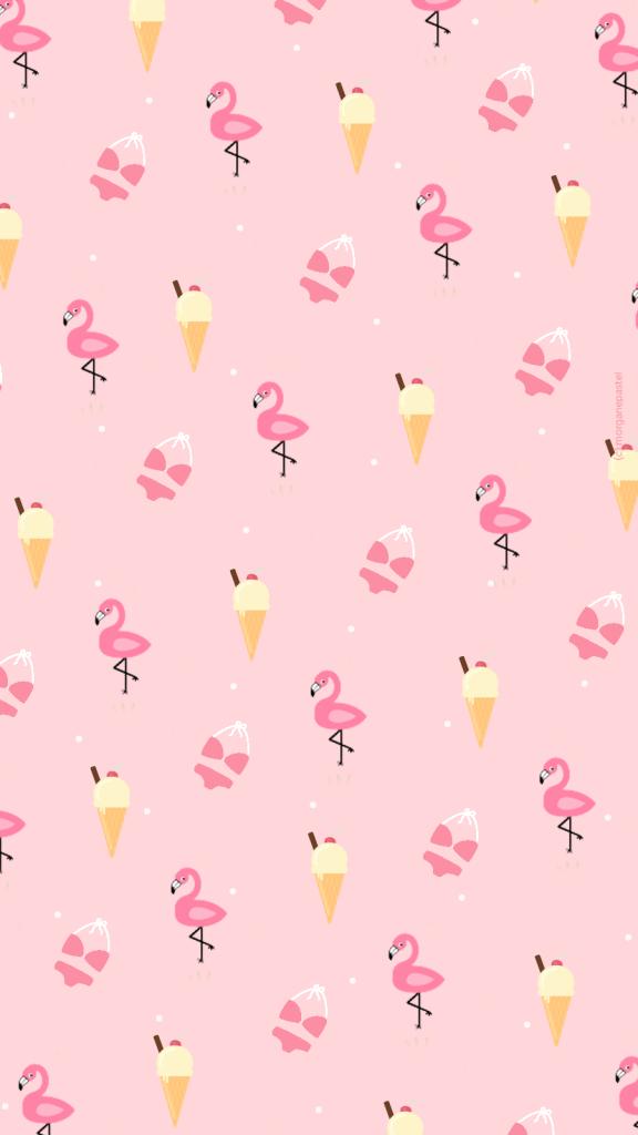 Wallpaper Glace Flamingo summer