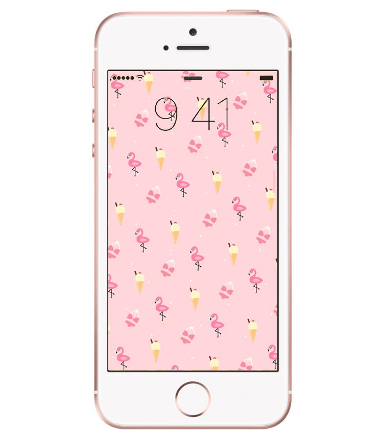 fond d'écran flamant rose