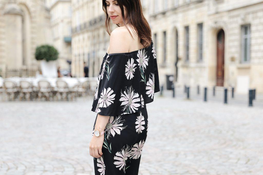 look femme imprime fleuri