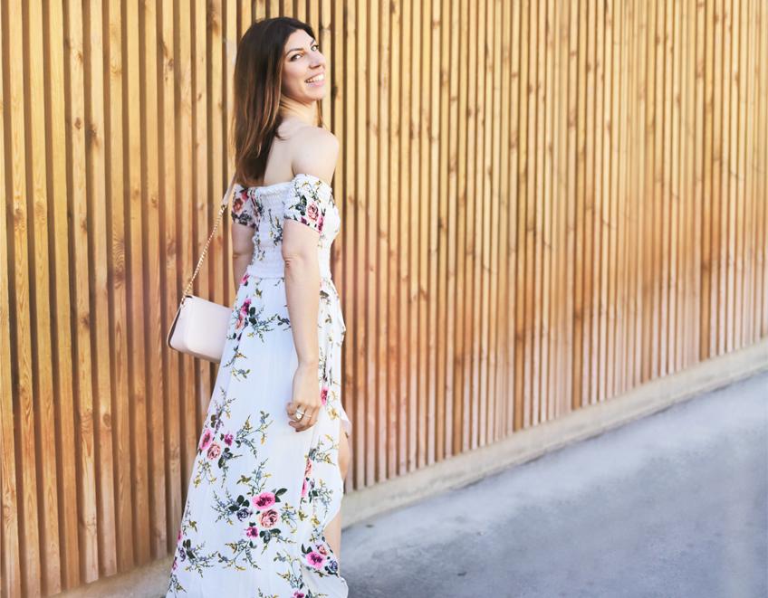 robe longue fleuri shein