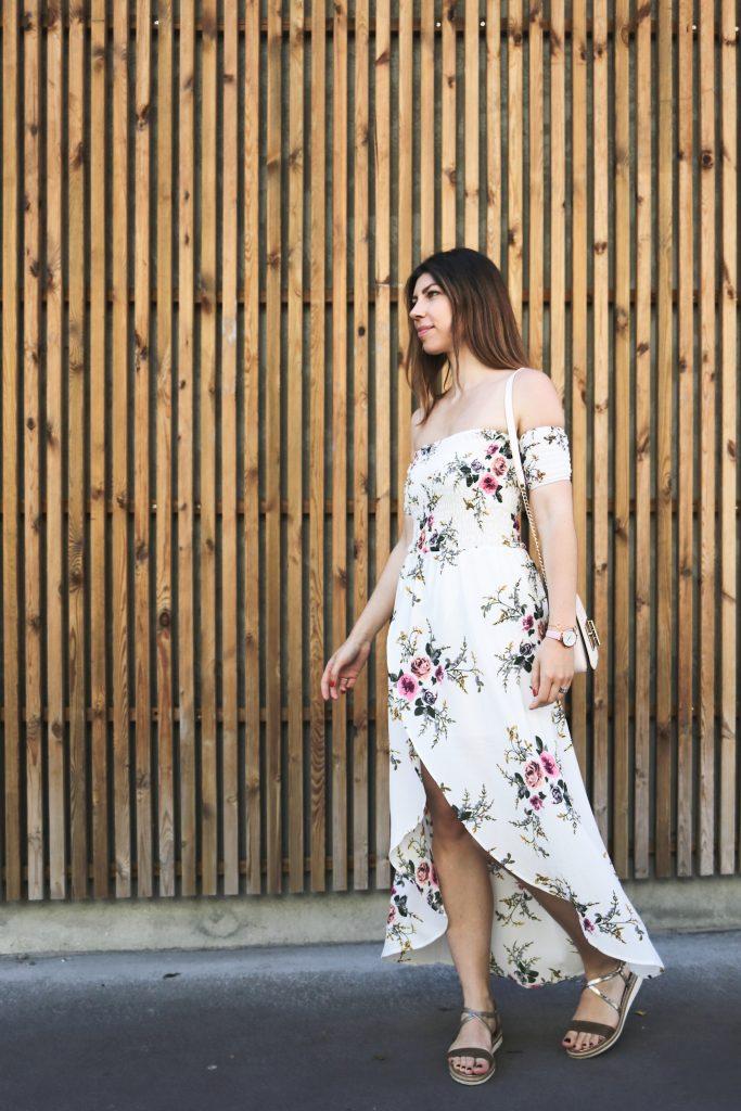 robe longue fleurie shein