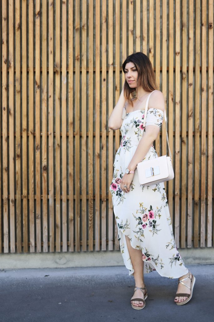 robe longue imprime fleuri