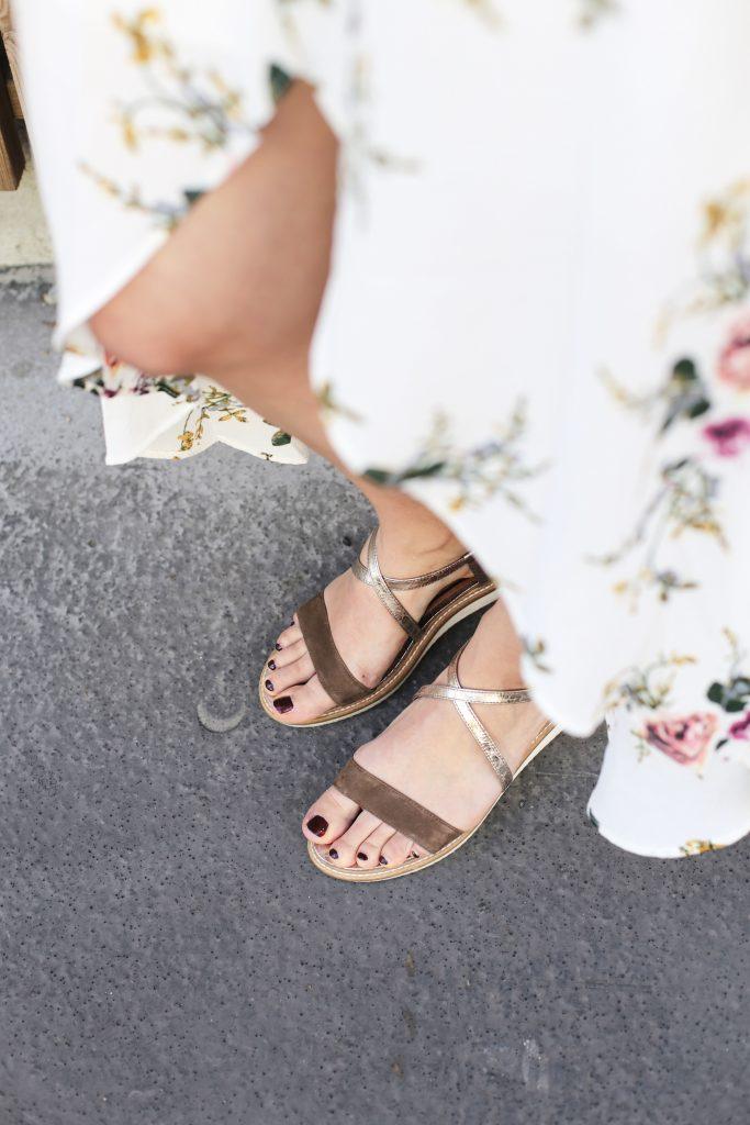 sandales taupe suedine zalando