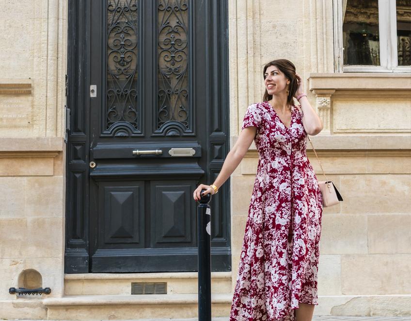 look ete robe longue rouge