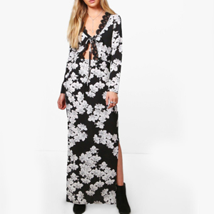 robe longue boohoo