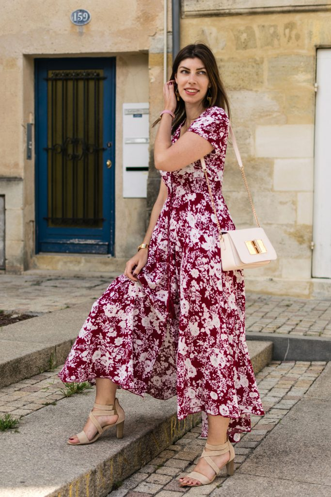 robe-longue-floral-rouge-shein