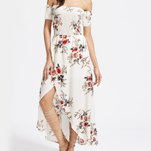 robe longue imprime shein