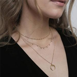 bijoux collier dore