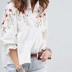 blouse broderie floral