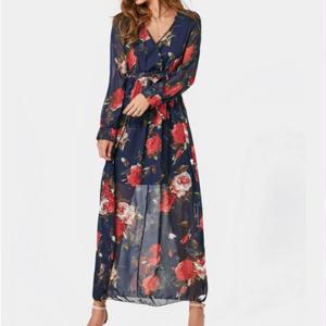 robe bleu fleurs
