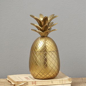 boite ananas dore
