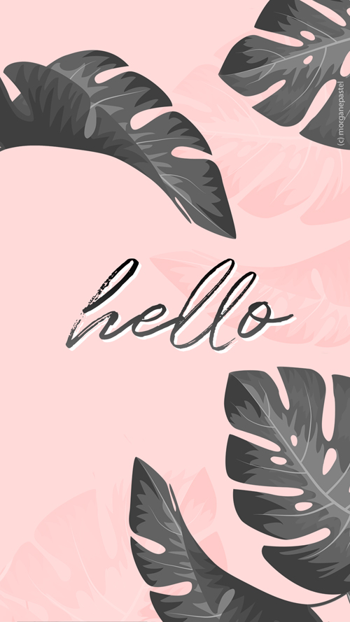 wallpaper palmier tropical black pink hello