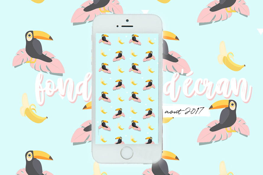 wallpaper toucan palmier