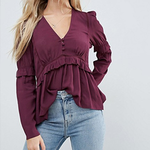 blouse bordeaux asos