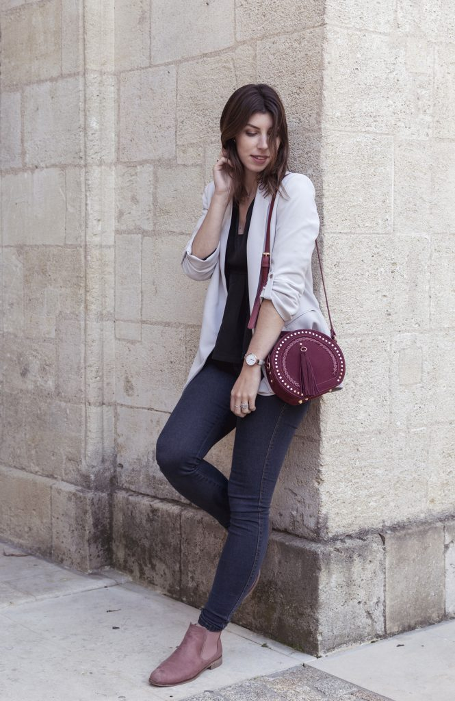 look chic casual boots rose