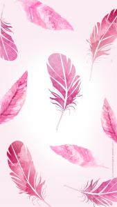 fond d'écran gratuit iphone plume girl pink