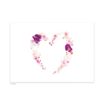 carte postale deco coeur