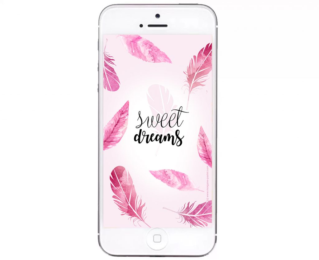 fond ecran iphone sweet dreams plumes