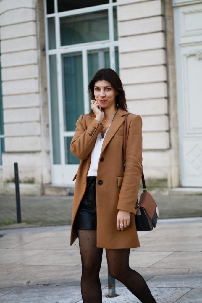 look manteau camel automne outfit