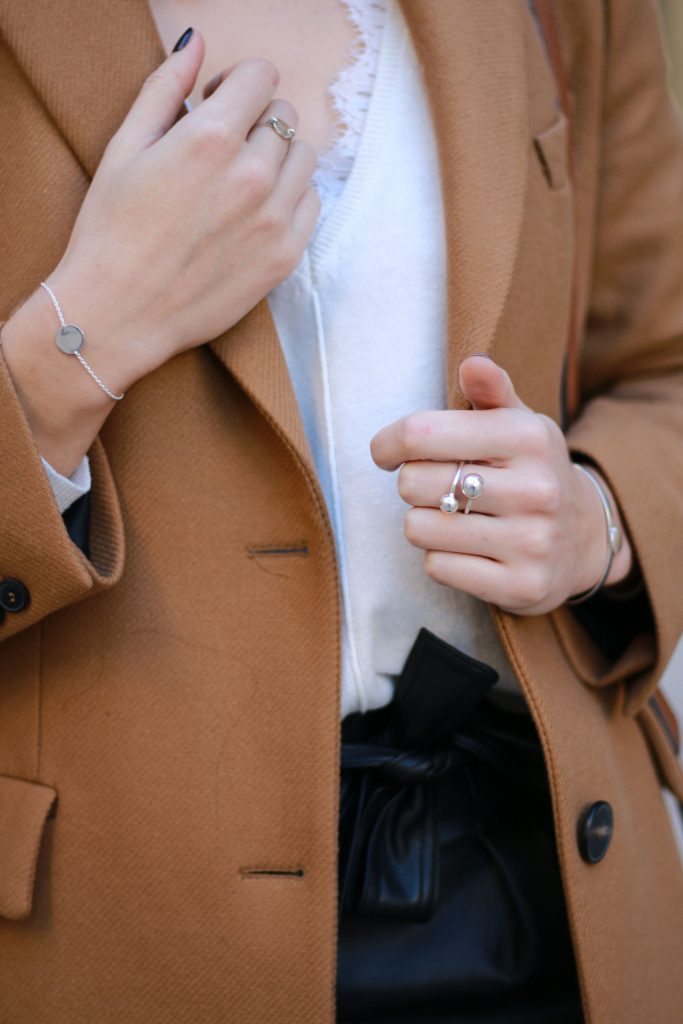look outfit manteau camel