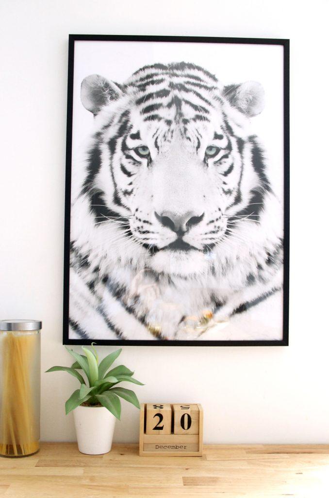 deco cuisine cadre tigre