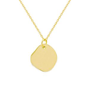 collier medaillon dore