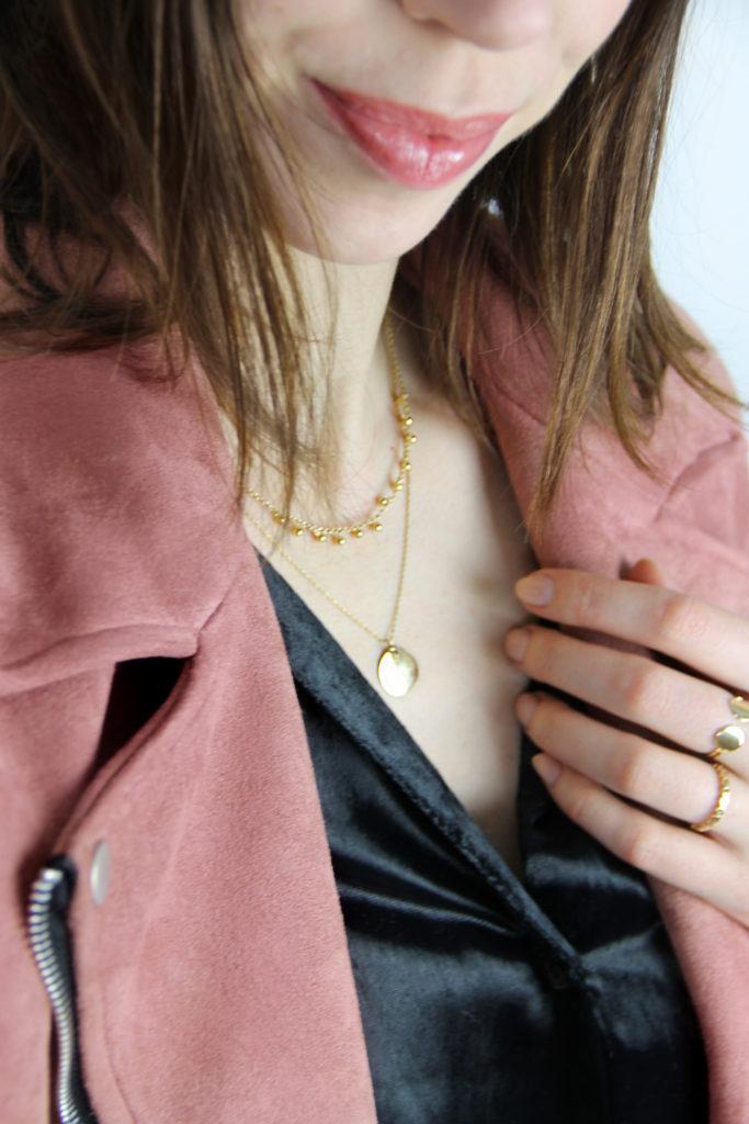 colliers medaillon or fin louyetu