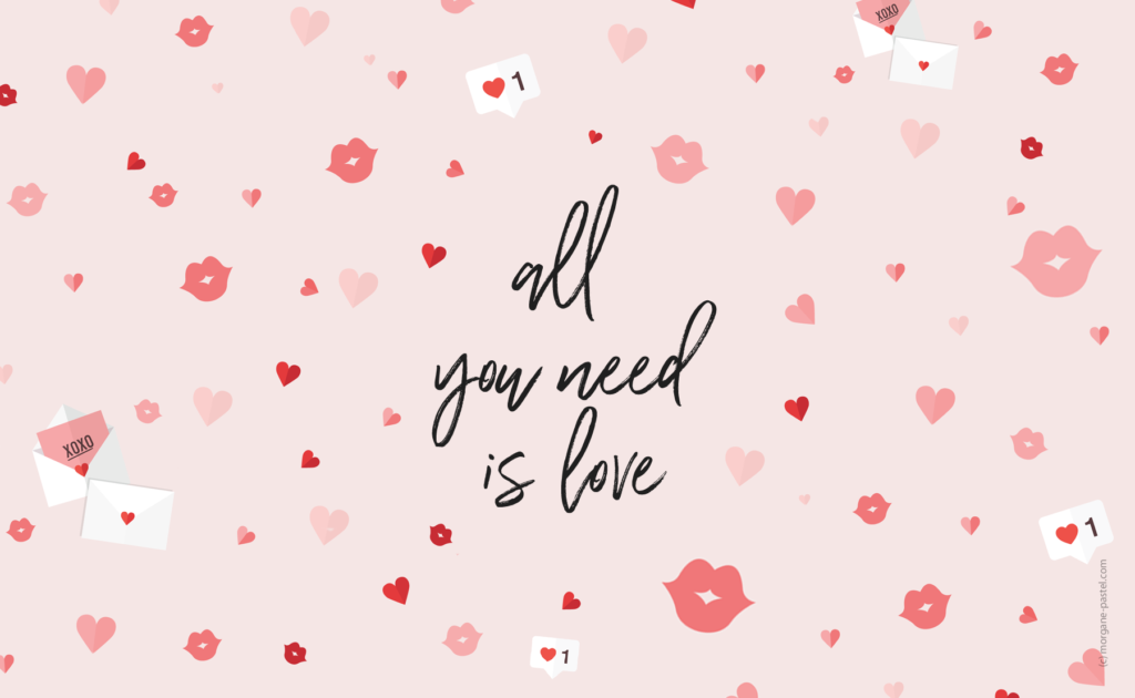 fond ecran all you need is love gratuit