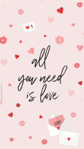 fond ecran fevrier all you need is love iphone