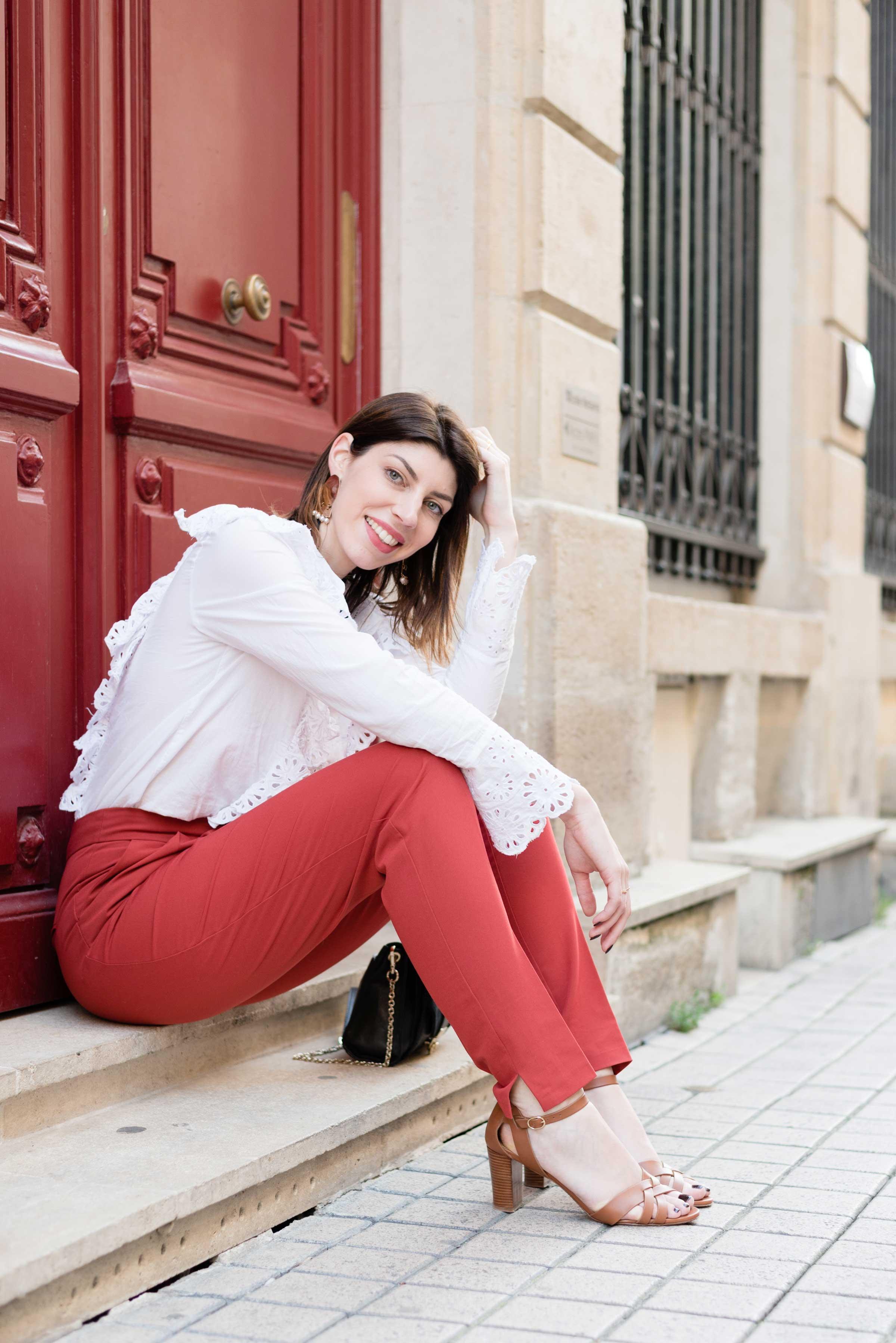 qualité de la marque prix incroyable disponible look-blogueuse-blouse-broderie-blanche