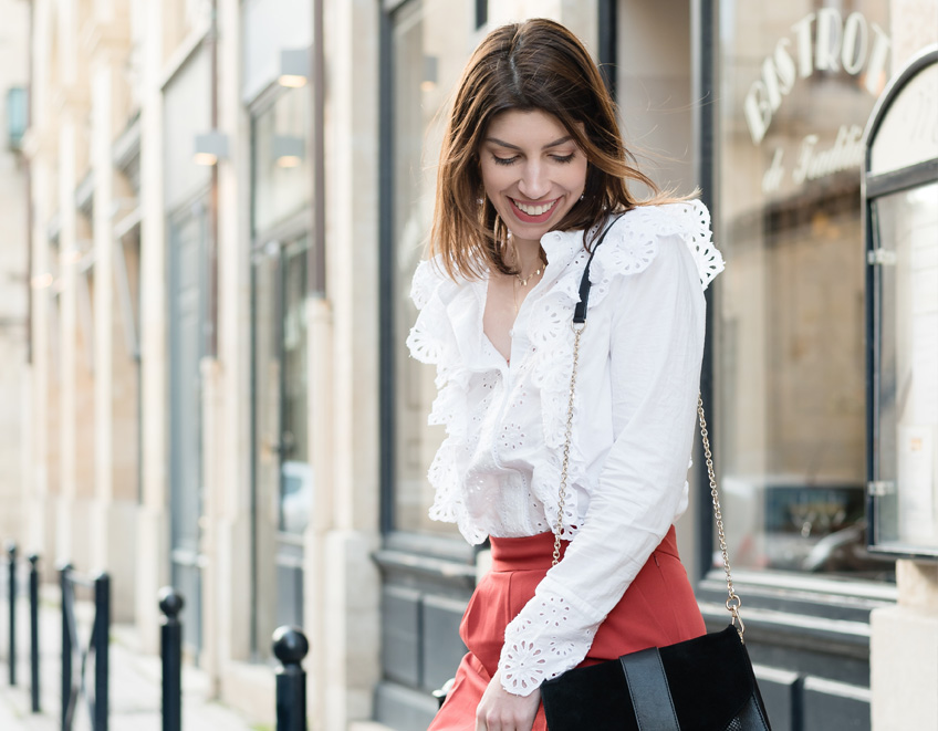 look blouse broderie blanche printemps