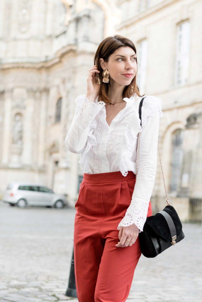 look mode blogueuse bordeaux printemps