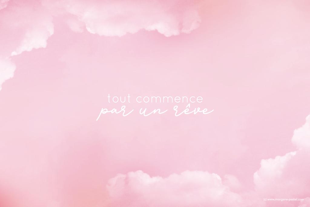 fond d'écran ordinateur rêve rose