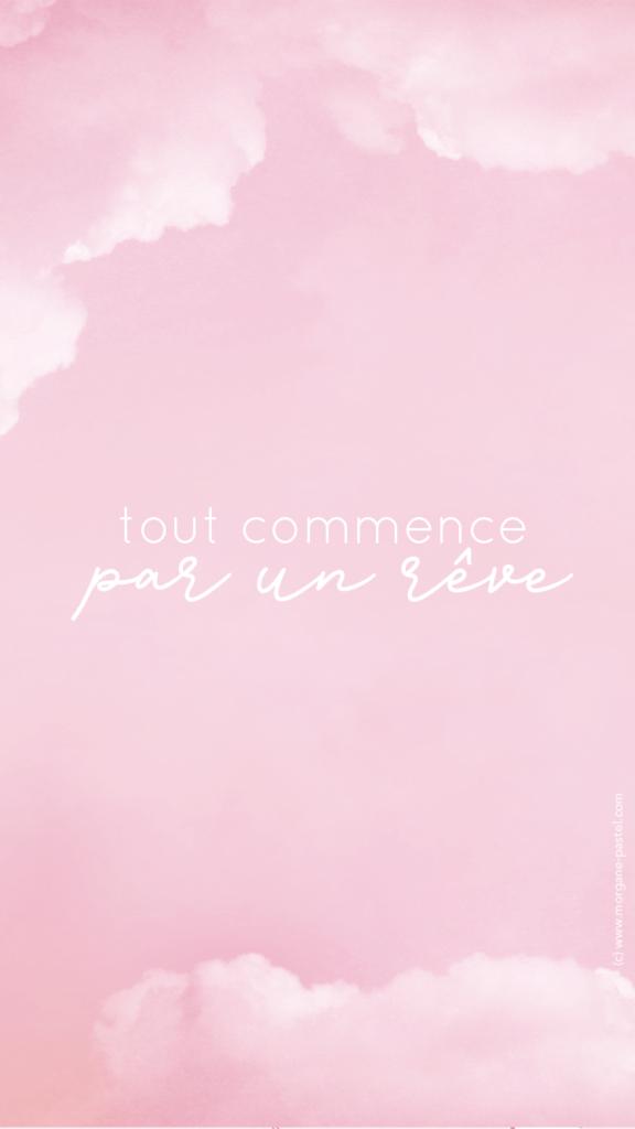 fond d'écran dream pink gratuit