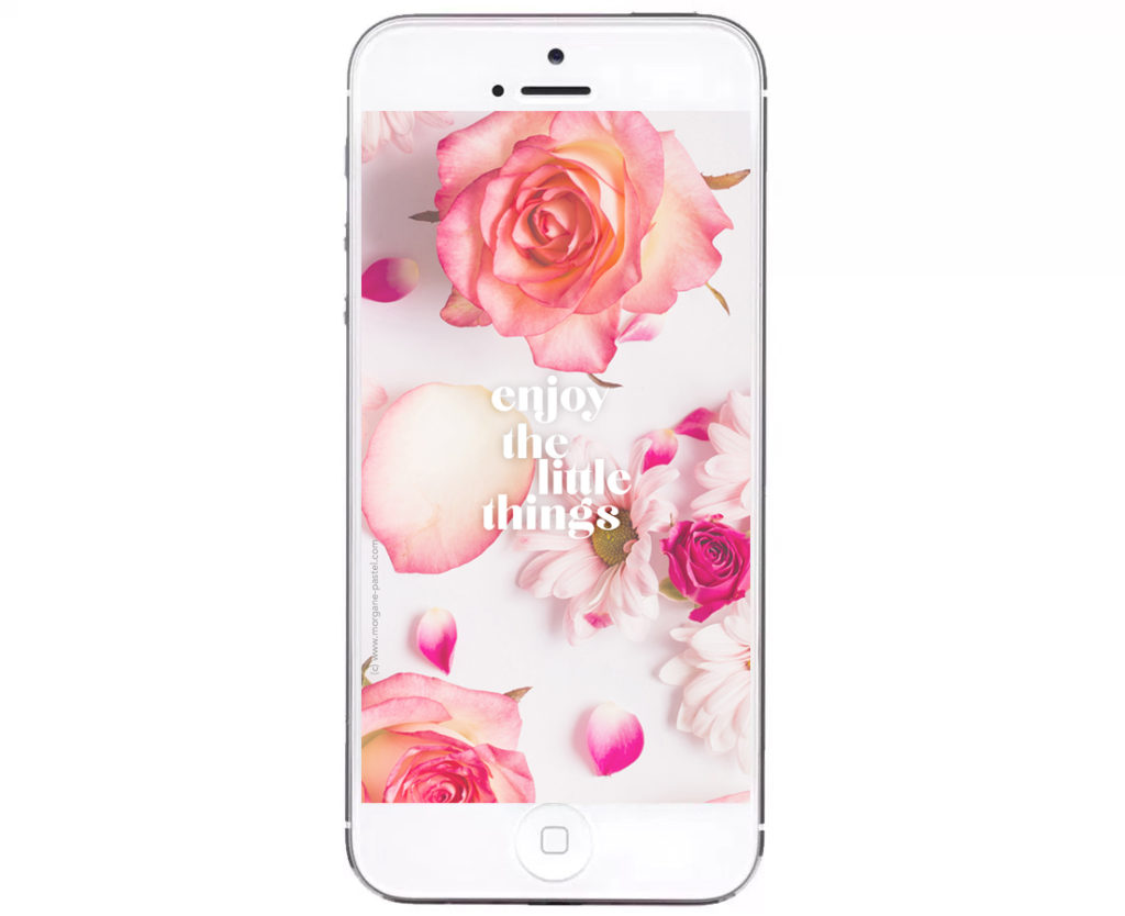 fond ecran iphone enjoy the little things