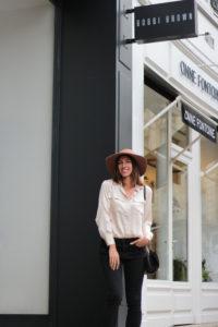 chapeau capeline look mode bordeaux
