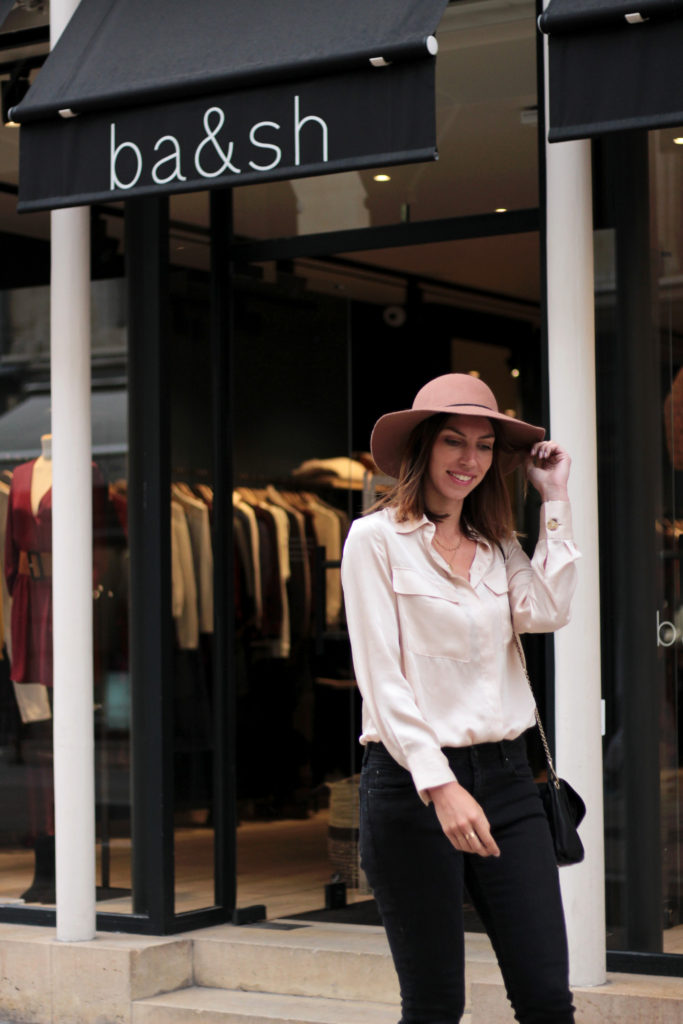 look mode blouse satin
